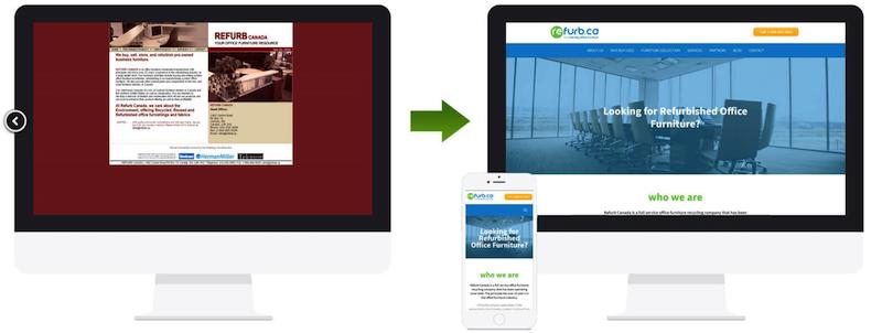 modern website needed to increase online presence