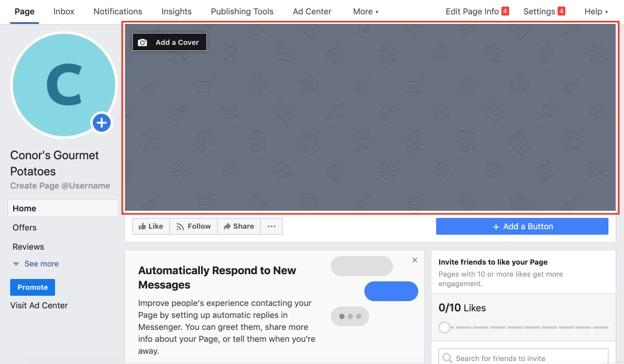 Facebook page creation for online reputation management