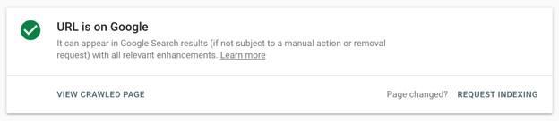 Google URL certification to online reputation management