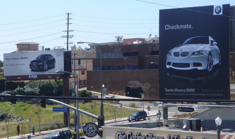 out of home advertising BMW