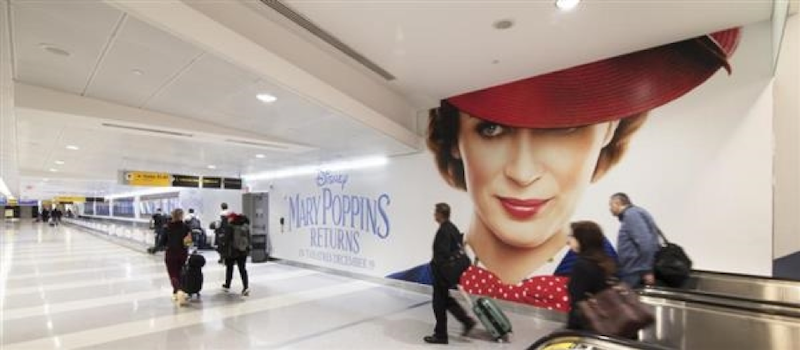 out of home advertising mary poppins returns