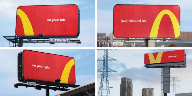 out of home advertising mcdonalds