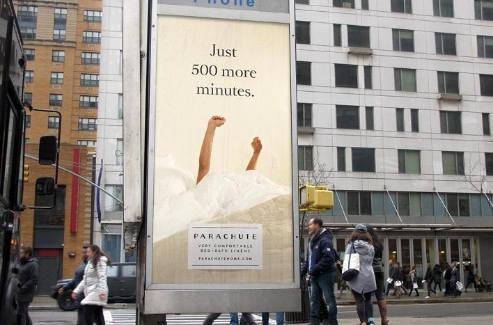 Parachute billboard