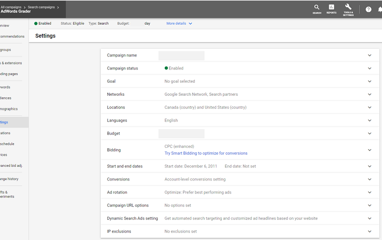 Google Ads account setting updates