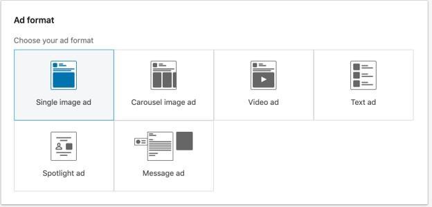 Formatos de anúncio do LinkedIn