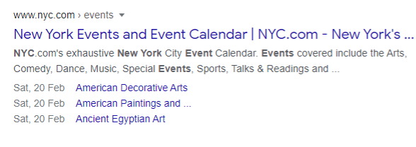 example of event schema markup