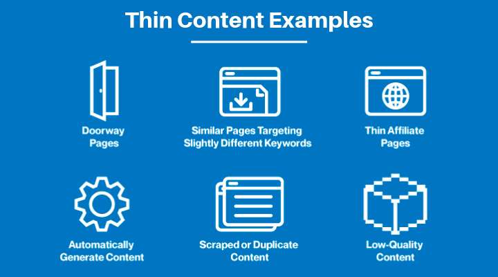 types of thin content google penalties