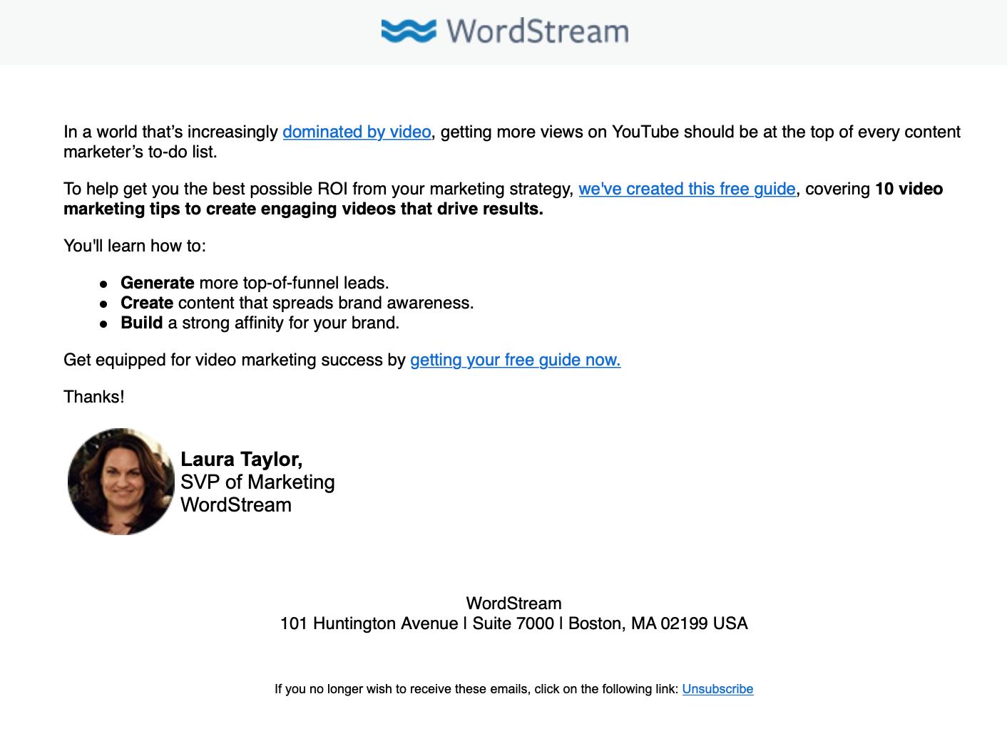 كيفية كتابة رسائل البريد الإلكتروني الترويجية ، مثال بريد إلكتروني ترويجي ، تفكيك النص