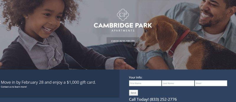 real-estate-landing-pages-cambridge-park