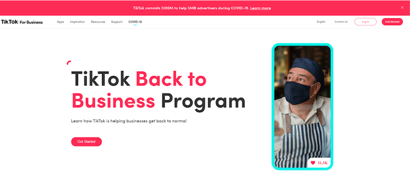 reasons to advertise on tik tok back to business program