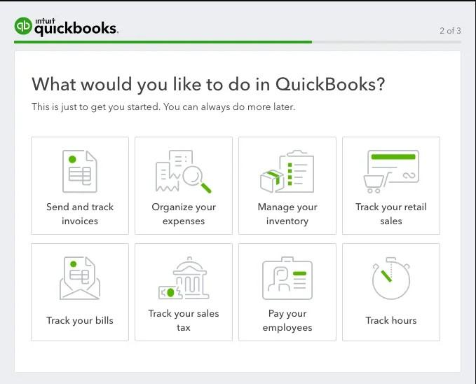 Quickbooks onboarding experience