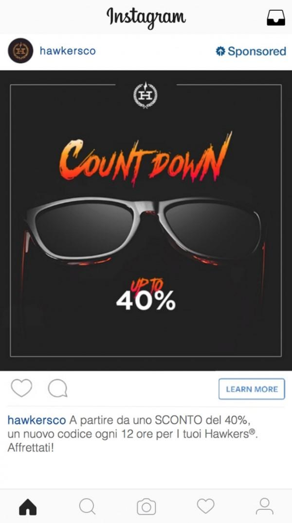 Hawkers Instagram ad
