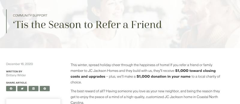 referral marketing holiday referral