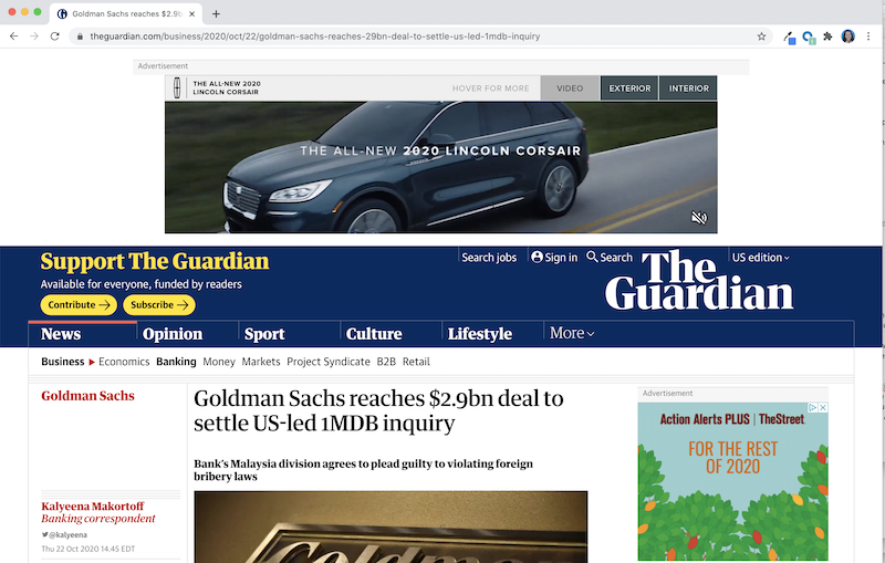 regular page version of guardian news story