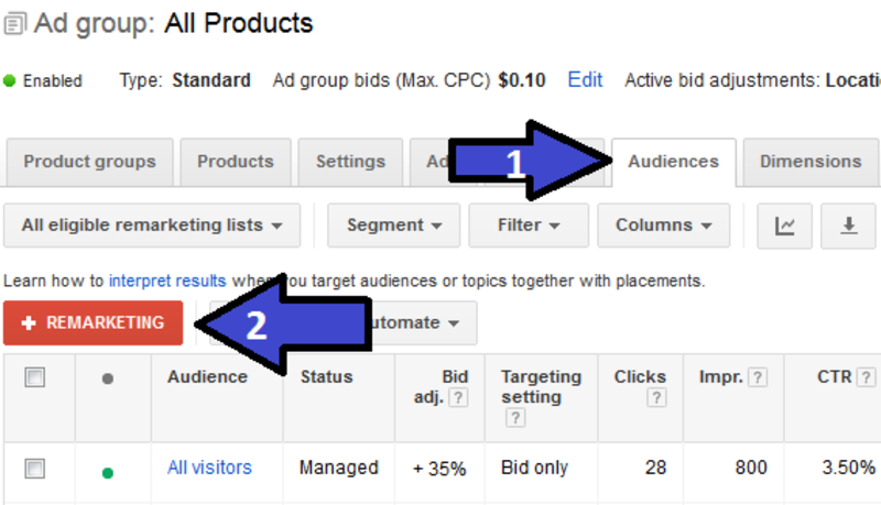 how to remarketing shopping lists