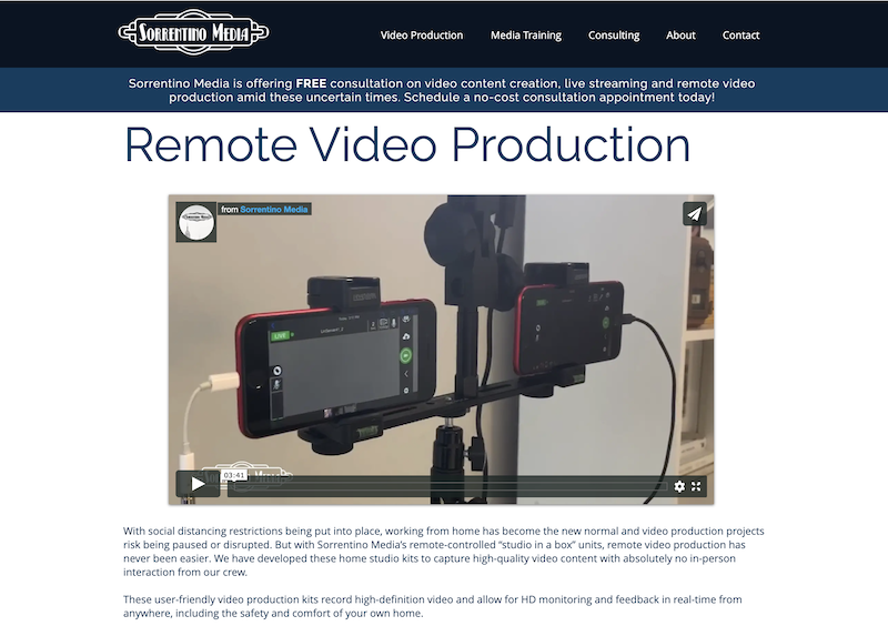 remote at home diy videos for marketing sorrentino media