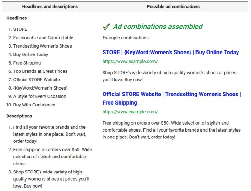 google-responsive-search-ads-headlines-descriptions