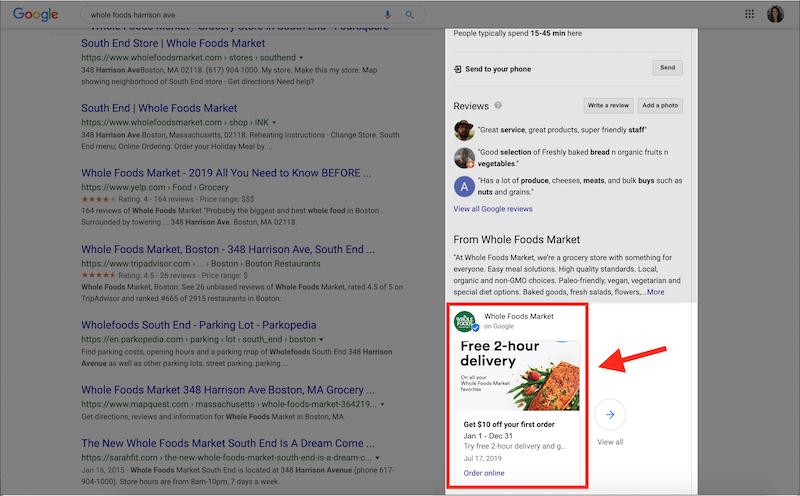 sales promotion examples Google My Business offer post