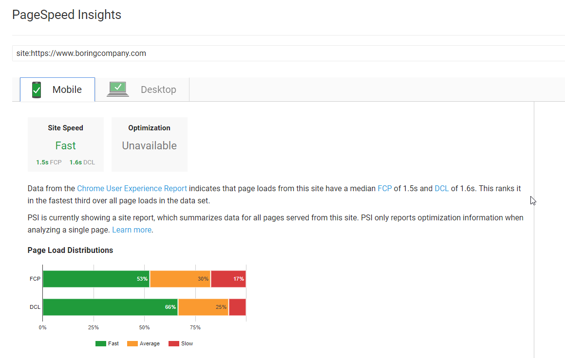 SEO Audit Page Speed
