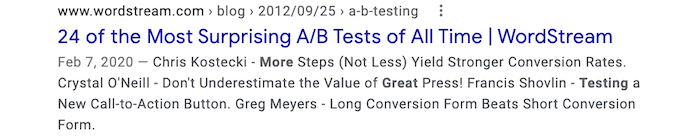seo testing best practices story centric headlines