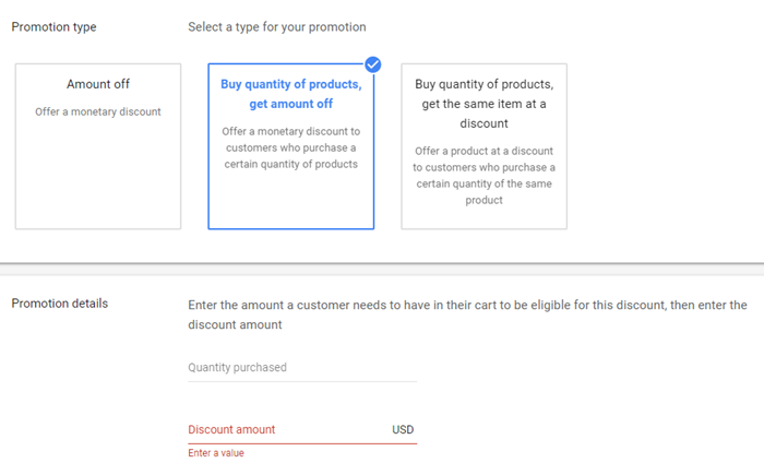 buy quantity get amount off