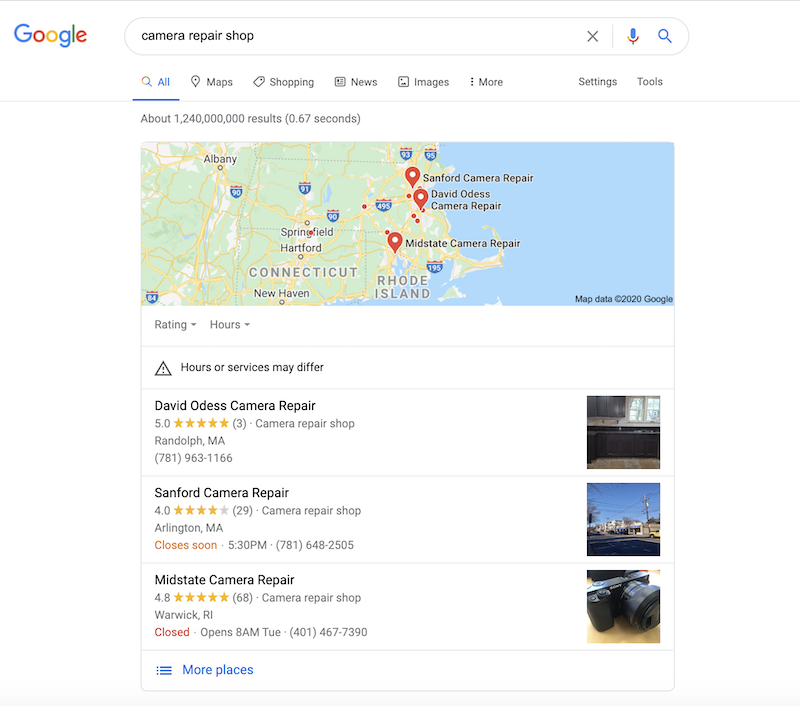 small business seo services local results
