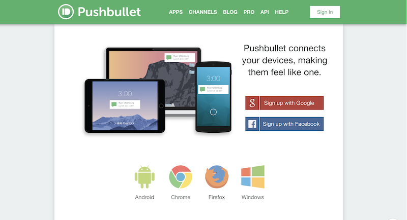 small business productivity tools pushbullet