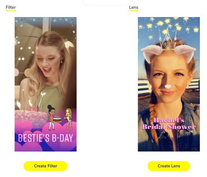 Snapchat filters vs. Snapchat lenses