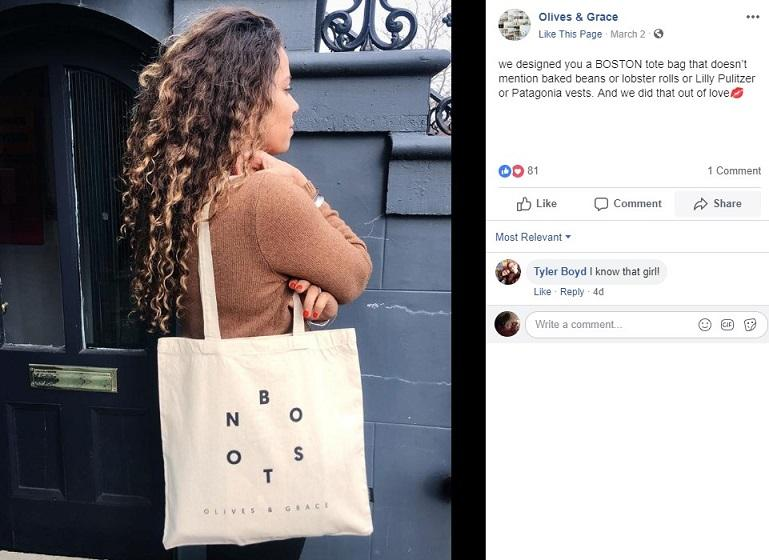 Olive and Grace Facebook post