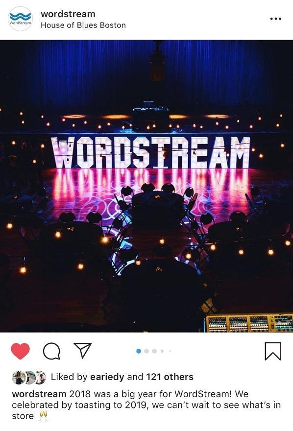 WordStream Instagram post