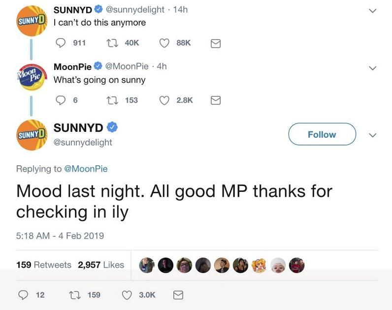 Sunny D tweets