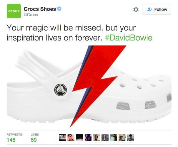 David Bowie crocs