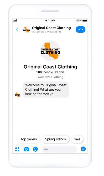 Facebook Messenger marketing example