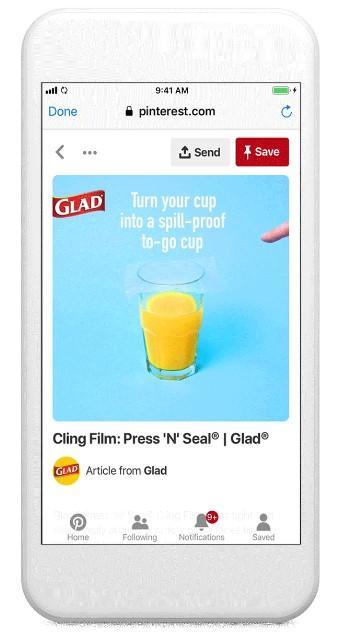 social media video marketing example from Pinterest