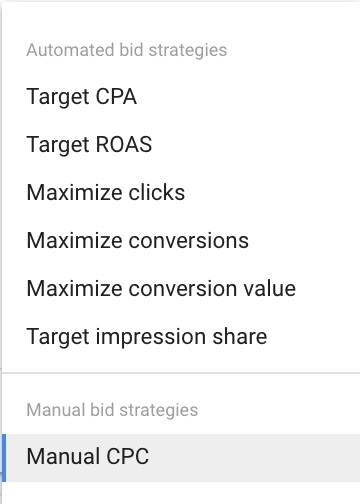 Google Ads bidding strategies