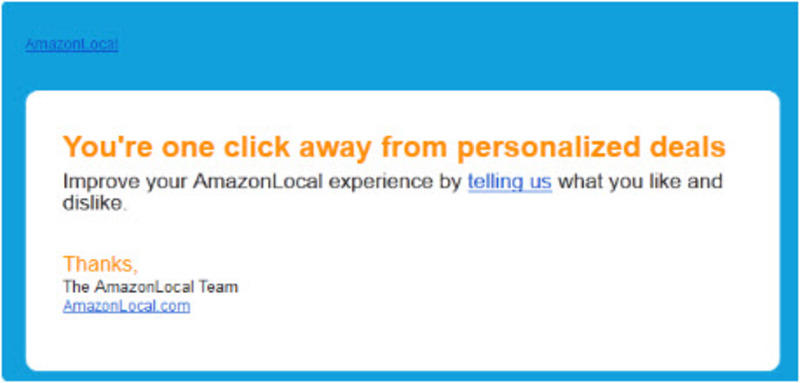 amazon targeted email marketing