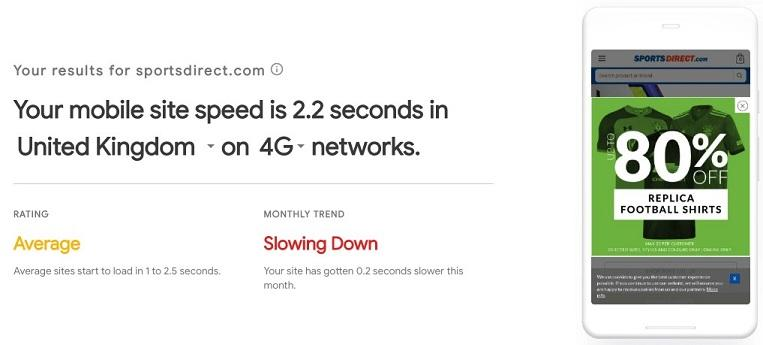 site speed 3G or 4G image