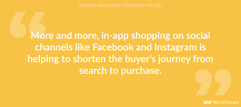 the best marketing strategies for 2021 social commerce