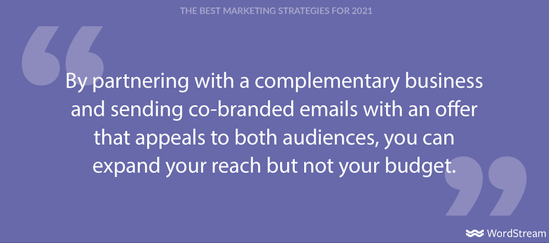 the best marketing strategies for 2021- partnerships