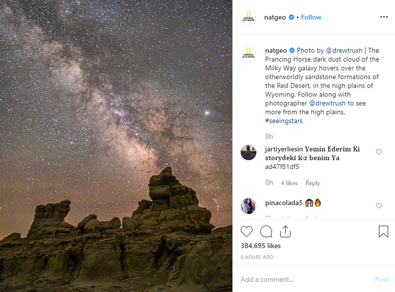 National Geographic instagram post