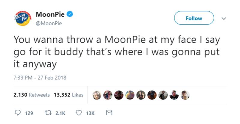 moonpie throw at face twitter brands