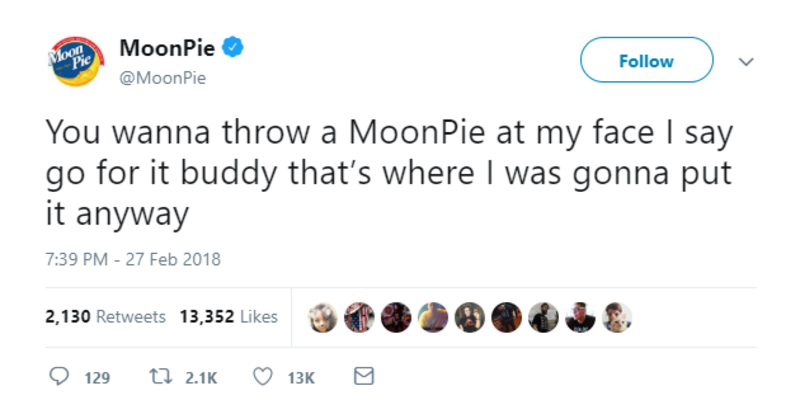 moonpie throw at face twitter brands