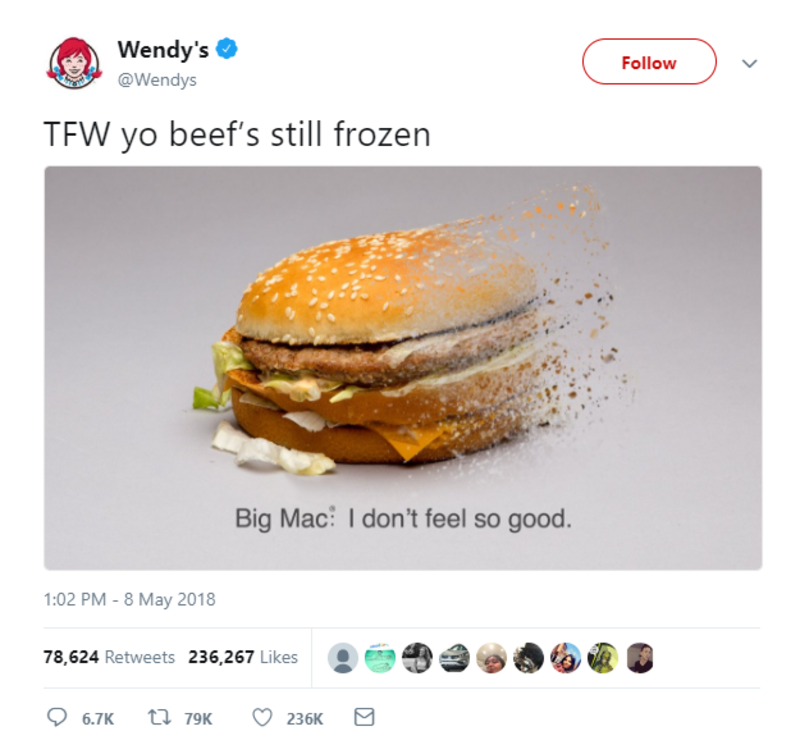 wendys infinity war twitter brands