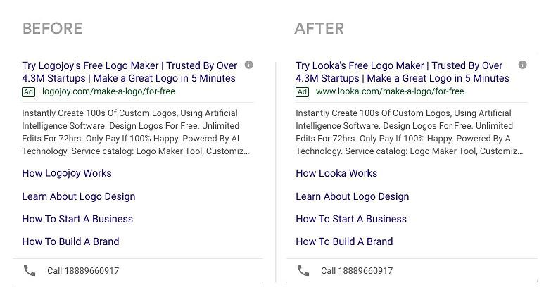 Google Ads rebrand example