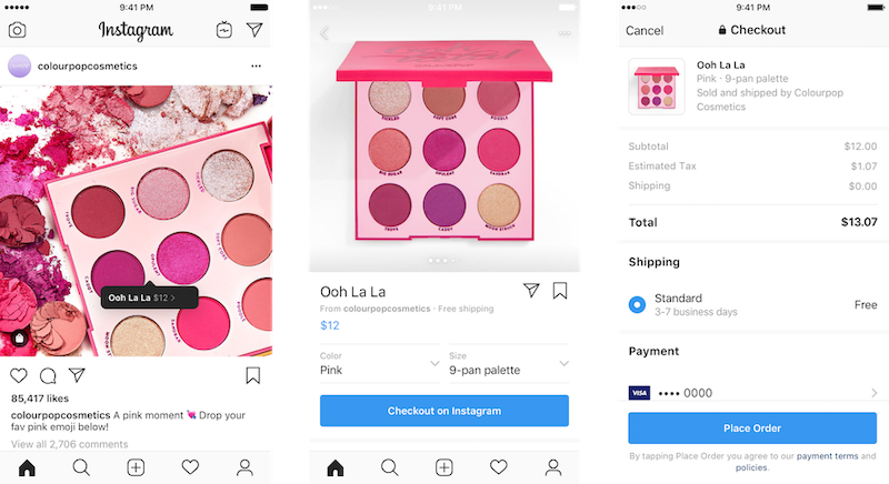 use instagram checkout to increase social media ecommerce advertising holidays 2020