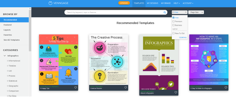 visual marketing tools venngage templates