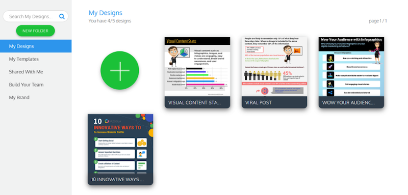 visual marketing tools venngage