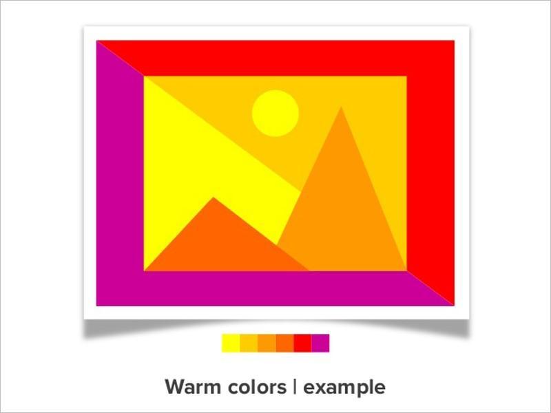 warm colors for website color scheme