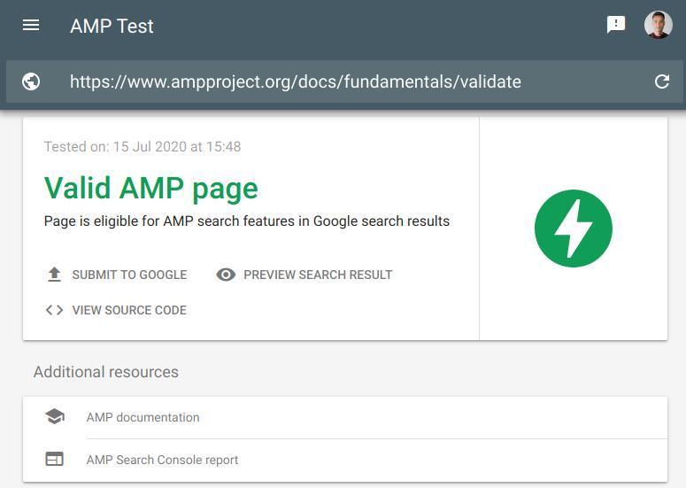 what is google amp- amp validator