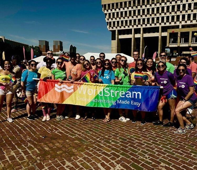 WordStream employees at Boston's 2019 Pride